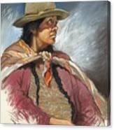 Native Peruvian Woman Canvas Print