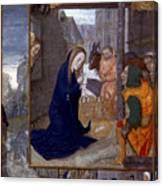Nativity With Shepherds Canvas Print