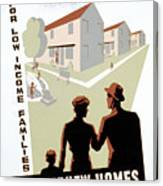 New Deal: Wpa Poster Canvas Print