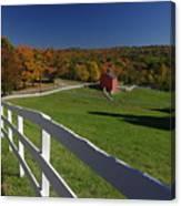 New England Barn In Autumn Canvas Print
