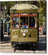 New Orleans Cable Car Canvas Print