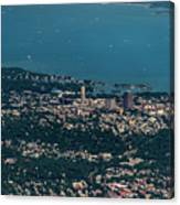 New Rochelle Real Estate Aerial Photo Canvas Print