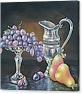 Fruit N Silver Canvas Print