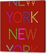 New York No 1 Canvas Print