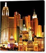 New York New York Hotel Canvas Print