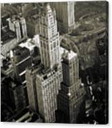 New York Woolworth Building - Vintage Photo Art Print Canvas Print