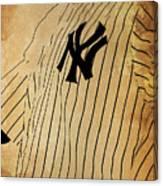 New York Yankees Baseball Team Vintage Card Canvas Print