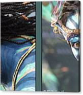 Neytiri - Gently Cross Your Eyes And Focus On The Middle Image Canvas Print