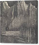 Night In The Yosemite Canvas Print