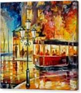 Night Trolley Canvas Print