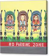 No Parking Zone Canvas Print