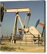 Nodding Donkey Oil Pumps Canvas Print