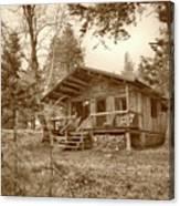 North Maine Cabin Canvas Print