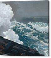 Northeaster, 1895 Canvas Print