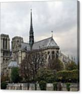 Notre Dame Cathedral In Paris, France Canvas Print