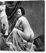 Nude Posing, 1855 Canvas Print
