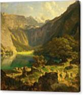 Obersee. Bavarian Alps Canvas Print