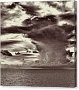 Ocean God Clouds Canvas Print