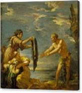 Odysseus And Nausicaa Canvas Print