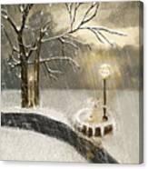 Oh Let It Snow Let It Snow Canvas Print