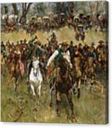 Oklahoma Land Rush, 1891 Canvas Print