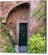 Old Buildings In The Jewish Ghetto In Rome Canvas Print