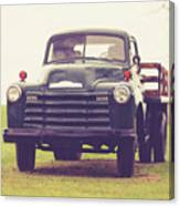 Old Chevy Farm Truck In Vermont Square Canvas Print