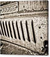 Old Dodge Grille Canvas Print