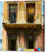 Old Havana Building Canvas Print