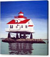 Old Plantation Flats Lighthouse Canvas Print