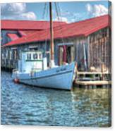 Old Point Crabbing Boat Canvas Print