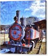 Old Steam Train In Nafplio Town Canvas Print