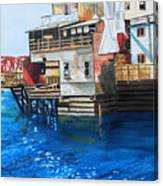 Old Town Juneau Ak Canvas Print