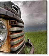 Old Vintage Truck On The Prairie Canvas Print