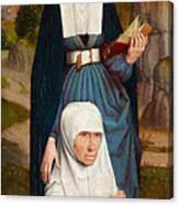 Old Woman At Prayer With St. Anne Canvas Print
