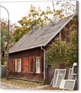 Old Wooden House With Tar Canvas Print
