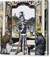 Open Door Cartoon, 1900 Canvas Print