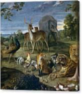 Orpheus And Animals Canvas Print
