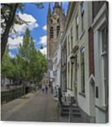 Oude Kerk In Delft Canvas Print