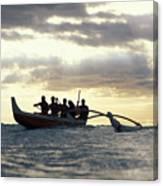 Outrigger Canoe Canvas Print