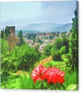 Overlooking Granada Canvas Print
