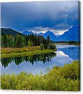 Oxbow Bend Storm Clouds Canvas Print