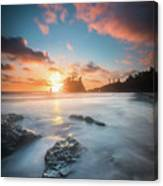 Pacific Sunset At Olympic National Park Canvas Print