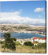 Pag Old Town In Croatia Canvas Print