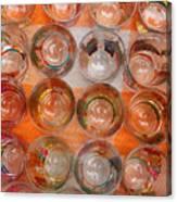Painted Shot Glasses Canvas Print