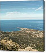 Panoramic View Across Calvi Bay And Revellata In Corsica Canvas Print