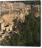Panoramic View Of Cliff Palace Cliff Canvas Print