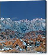 Panoramic Winter Morning Alabama Hills Eastern Sierras California Canvas Print