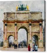 Paris Arc Canvas Print