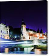 Paris At Night 15 Art  Canvas Print
